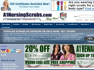 Shop at a1nursingscrubs.com