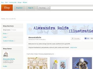 Shop at alexandrarolfe.etsy.com