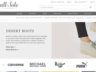Shop at allsole.com