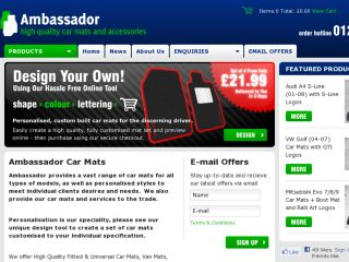 Shop at ambassadorcarmats.co.uk