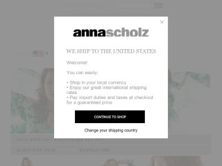 Shop at annascholz.com