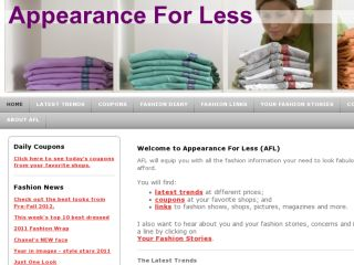 Shop at appearanceforless.com
