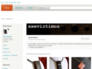 Shop at axevictimus.etsy.com