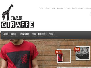 Shop at badgiraffeclothing.co.uk