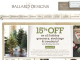 6 active Ballard Designs Coupons & Offers Visitors save an average of $; If you are looking for something fresh, unique and exotic for your home, Ballard Designs has all these things and more. Inspired by European sensibility Ballard Designs offers its customers the biggest assortment of home décor items possible.