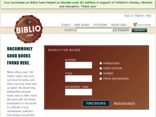 Shop at biblio.com