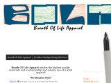 Browse Breath Of Life Apparel