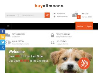 Shop at buyallmeans.co.uk