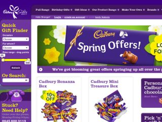 Shop at cadburygiftsdirect.co.uk