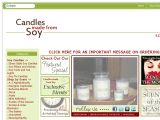 Browse Candles Made From Soy
