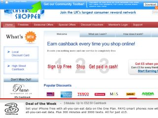 Shop at cashbackshopper.co.uk