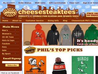 Shop at cheesesteaktees.com