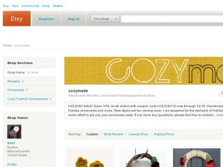 Shop at cozymade.etsy.com
