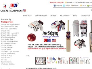 Shop at cricketequipmentusa.com