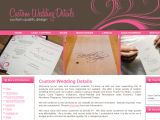 Browse Custom Wedding Details