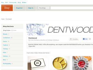 Shop at dentwood.etsy.com