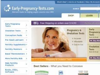 Shop at early-pregnancy-tests.com