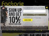 Factorie.com Coupon Codes