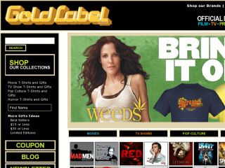 Shop at goldlabel.com