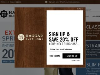 Shop at haggar.com