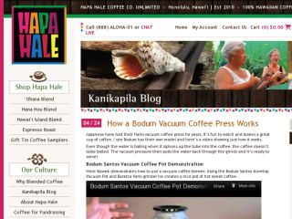 Shop at hapahalecoffee.com