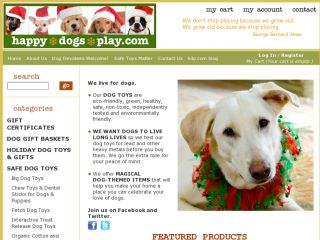 Shop at happydogsplay.com