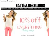 Hauteandrebellious.com Coupons