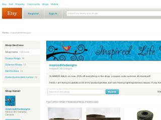 Shop at inspiredlifedesigns.etsy.com