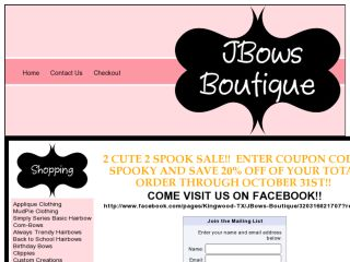 Shop at jbowsboutique.com
