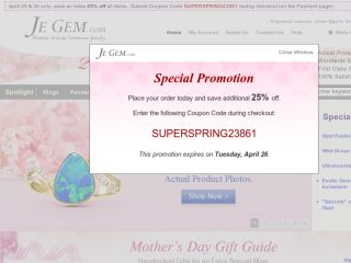 Shop at jegem.com