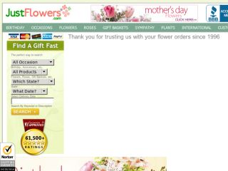 Shop at justflowers.com