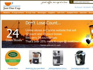 Shop at justonecup.com