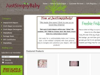 Shop at justsimplybaby.com