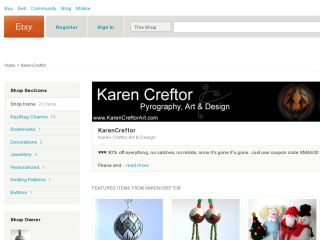 Shop at karencreftor.etsy.com
