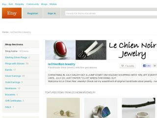 Shop at lechiennoirjewelry.etsy.com