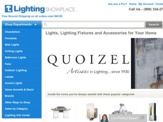 Shop at lightingshowplace.com