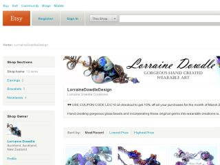 Shop at lorrainedowdledesign.etsy.com