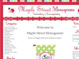 Browse Maple Street Monograms