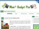 Browse Mom's Budget Plan