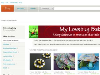 Shop at mylovebugbaby.etsy.com