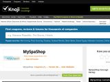 Myspashop.knoji.com Coupon Codes