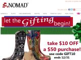 Nomadfootwear.com Coupon Codes