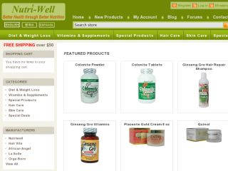 Shop at nutriwell.net