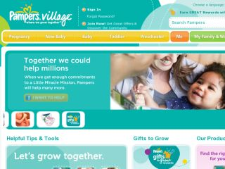 Shop at pampers.com
