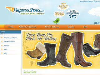 Shop at pegasusshoes.com