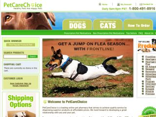 Shop at petcarechoice.com