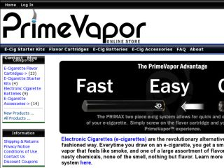 Shop at primevapor.com