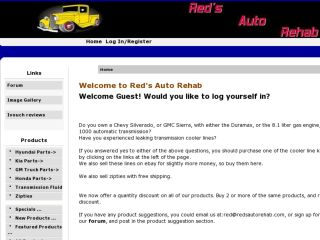 Shop at redsautorehab.com
