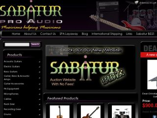 Shop at sabaturproaudio.com