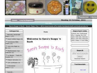 Shop at sarassoapsnsuch.com